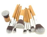 10 PCS Professional Cosmetic Brush set Bamboo Handle Synthetic Makeup Brushes Kit Make up Brush set tools Free Shipping