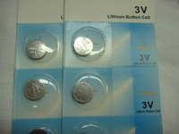 Wholesale  CR1220 3V LiMn button cell /coin battery in blister,5pcs/blister,750pcs/lot