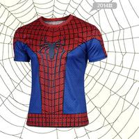 2014  new elastic leica spiderman fashion t - shirts straitjacket Fancy clothes