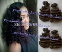 Funmi Hair UK/Nigeria Popular 3pcs #1b virgin aunty funmi hair 100% brazilian virgin funmi hair curls long lasting free shipping