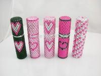 2014 Hot Free shipping(50pcs/lot) wholesale Fashion Heart 5ml beaded perfume bottle for travel