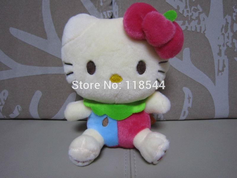 20cm red hello kitty toys plush hello kitty plush soft toys stuffed hello kitty kids toy baby toy one piece free shipping(China (Mainland))