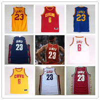 LeBron James Cleveland #23 Basketball Jerseys usa Cheap White Red Throwback Yellow Mesh Embroidery Cleveland LeBron James Jersey