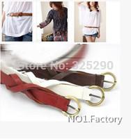 Vintage Shinny Copper Buckle Designer Thin Female Belt Fashion Strap for Women Ladies belts