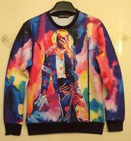 2014 New fashion women/men hoodies print king Roll Rock Michael Jackson 3d sweatshirt hip hop sweaters 3d casual pullover WT38