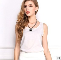 European and American women's 2014 summer candy color sleeveless chiffon shirt Camisole