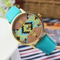 8 colors New Fashion Leather GENEVA Wristwatch for Classics women dress watches quartz watch clock Relogio