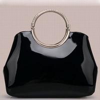 2014 new fashion Wristlets women handbag luxury ladies high quality patent PU leather shoulder bag black 5 colors A25