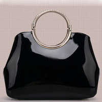 2014 new fashion Wristlets women's handbag luxury ladies totes high quality patent PU leather shoulder bag black 5 colors A25