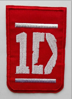One direction iron on patches band badge fabric clothes patch stickers embroidery needle wholesale 100pcs/lot