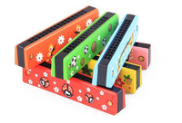 learning & education children harmonica wooden kids music toys, baby musical educational toy gift, free shipping