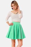New Arrival 2014 Brand Women's Sexy Fashion High Waist Mint A Line Skirts,Ladies Mini Short Sheer Skirts Plus Size XL