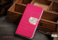 6 Colors High Quality Luxury Fashion Flip Pu Leather Huawei Ascend P7 Cases With Stand Design Phone Bag for huawei ascend P7