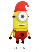 2014 new 5cartoon 1usb flash drive 2GB Despicable me little yellow man USB flash stick big capacity pen drive 512G FREE SHIPPING