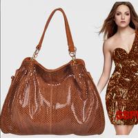 Snake Pattern Women Handbags Genuine Leather, Vintage Ladies Shoulder Bag, Messenger Bags, Fashion Bolsas 2014 New Woman Purses