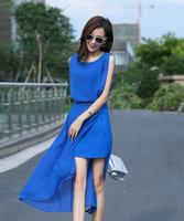 Plus Size Summer Dresses Lace Chiffon Dresses Desigual Fashion Vestido Womens Dress for the Beach Novelty Side Cut Out