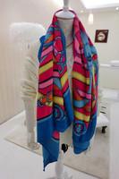 Spring and autumn h chain fluid large facecloth faux slanting stripe cotton women's scarf sun cape