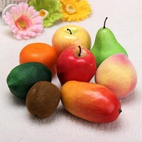 Lifelike Plastic Artificial Fake Fruit Food Home Party Wedding Decor Kids Toy