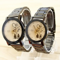 Couple Watches For Lovers Famous Brand Fashion Stylish Stainless Steel Mens Free Shipping