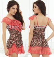 Free Shipping 2014 Summer New Arrvial Women's Sexy Exotic Apparel Sleepwear Ladies' Babydolls Clubwear  Girls'  Sleep Tops