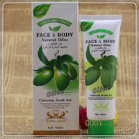 Olive face body narural garlic & cleaning the scrub gel  100 ml  free  shipping