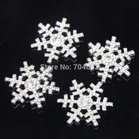 Freeshipping 29*29mm snowflake rhinestone button flat back for hair flowers 20pcs/lot PJB24