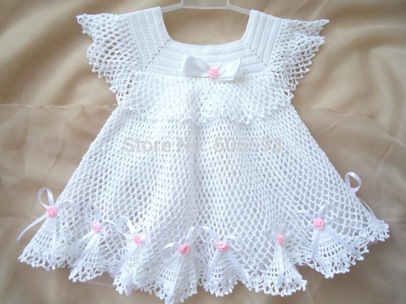 Crochet Stitches Baby Frock : 2014 Baby girl dress Handmade Dress Pattern home dress newborn frock ...