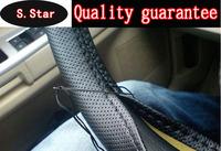 2014 momo steering wheel sew-on car steering wheel cover hole-digging breathable slip-resistant, handmade of sew cover, hubs