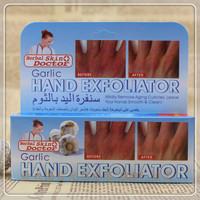 Garlic hand exfoliator & moisturizing whitening & peeling hand cream   50  ml  free  shipping