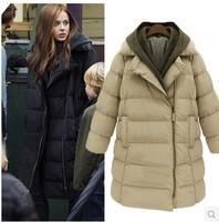 Jaquetas femininas 2014 winter women medium-long wadded jacket plus size thickening women's the trend cotton-padded outerwear .