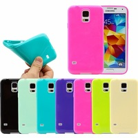 new Slim Fit Soft Gel Skin Glossy Case Cover For Samsung Galaxy S5 i9600 S4 I9500