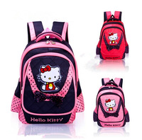 Free shipping new fashion style girl student school bag girl backpack cute cartoon Kitty bag school backpack best gift for girls