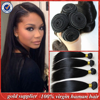 "Unprocessed Remy Brazilian Virgin Hair Extension Straight 10""-30""inch Queen Hair Products Cheap Brazilian Straight Virgin Hair"