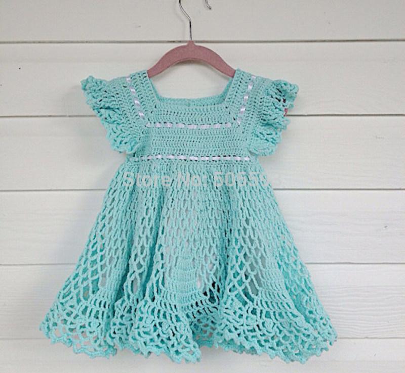 Free Crochet Patterns For Baby Frocks : 2014 Baby girl dress Handmade Dress Pattern home dress ...