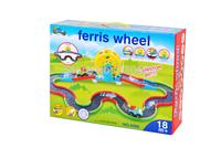 Environmental Material Assembly cute cartoon electric rail cars Kids love Educational toys