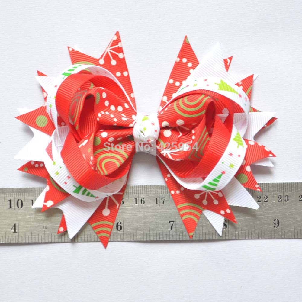 Boutique Hair Bows Ribbon Bow Flower Hairpins Girl Baby Hair Clips&Barrettes Baby Hairbows Hairpin Girls Hair Accessories(China (Mainland))