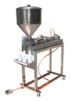 (Free Shipping to North America) Full Pneumatic Salad Dressing Filling Machine  without electricity (with table and hose)