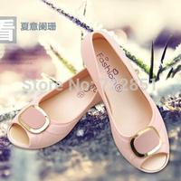 2014 summer plastic jelly sandals open toe sandals platform shoes women's wedges shoes