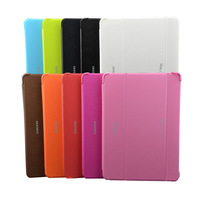 Sleep wake up Smart 3 Fold Stand 10.1''  tablet PC leather Flip Case Cover for samsung Galaxy Tab pro T520