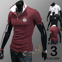 Free Shipping Mixed Cotton Man Polo Shirt for gift