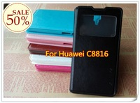 Min.order is$10 (mix order)Durable left right flip holder monster multi color protective leather case For Huawei C8816