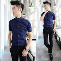 camisetas masculinas free shipping men's 2014 summer new korean version of the influx of short-sleeved shirt slim salon polo