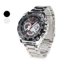 Unisex Triple-Movement PU Band Quartz Analog Wrist Watch (3 Time Zones, Brown)