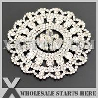 Free Shipping 1pc/lot Silver Crystal Rhinestone Embellishment for Bridal Wedding Gown, X12-0060