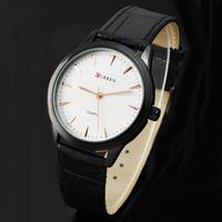Super Price Men Black Genuine Leather Watch Curren Luxury Brand Analog Quartz Wristwatch Man Dress Wach Relogio 8119