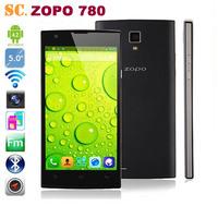 MTK6582 Quad Core 5.0 inch QHD 960*540 ZOPO ZP780 5.0MP Camera Mobile Phone Android 4.2 ROM 4G BT GPS Dual Sim FM 3G WCDMA WIFI