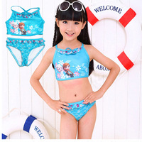 Newest Frozen Ann Elsa Kids Monokini bikini Swimwear Baby Toddler Girl Swimsuit   2-10 UV Protection children fashion  girl