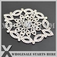 Free Shipping 1pc/lot Silver Crystal Rhinestone Embellishment for Bridal Wedding Gown, X12-0062