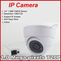 Best price Mini IP Camera Indoor 720P Network 1.0MP HD CCTV Camera P2P Plug Play + Free shipping