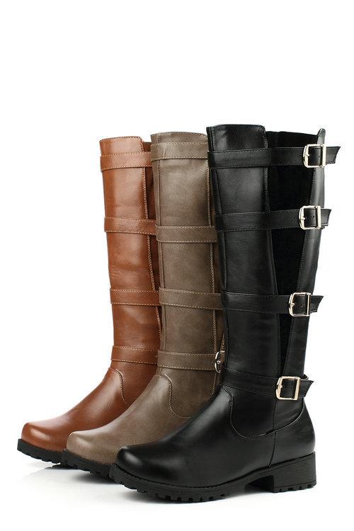 2014 top fasion winter botas femininas women rain boots promotion high knee flat knight women's all size 34-39(China (Mainland))